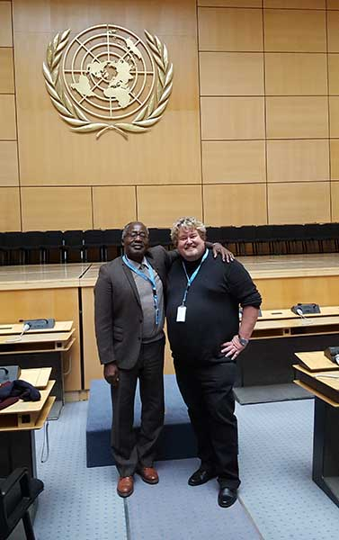 Richard Nilsson and Albert Konan Koffi in United Nations