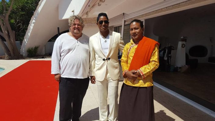 Richard Nilsson and Jermaine Jackson