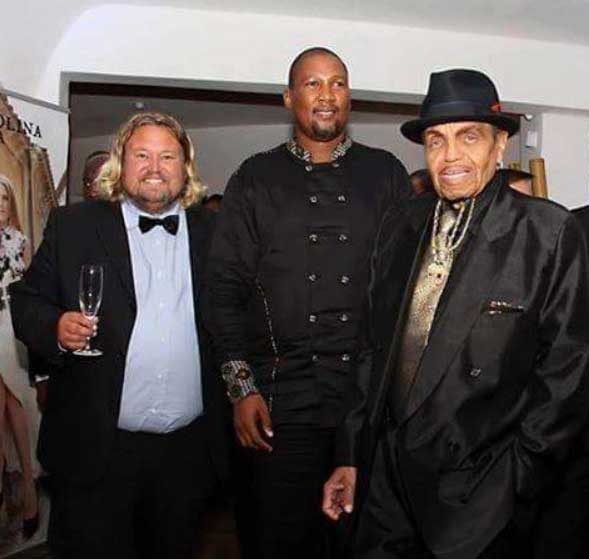 Richard Nilsson with Joe Jackson and HrH Chief Mandela